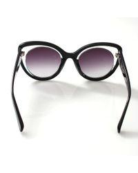 Erdem - Black Illusion Cat Eye Sunglasses - Lyst