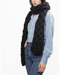 Wool And The Gang | Black Love Buzz Scarf | Lyst