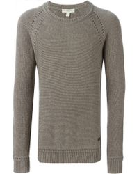 Burberry - Brown Crew Neck Sweater for Men - Lyst