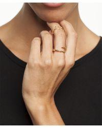 Arme De L'Amour | Metallic Skinny Horn Ring Set | Lyst
