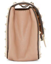 Valentino - Pink Rockstud Clasp Shoulder Bag - Lyst