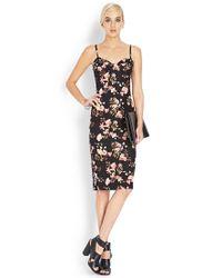 Forever 21 Pink Botanical Floral Midi Dress