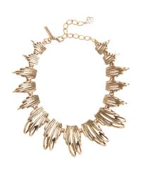 Oscar de la Renta Metallic Russian Gold Curve Necklace