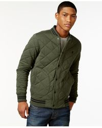 Hurley | Green All City Rivermouth Quilted Baseball Jacket for Men | Lyst