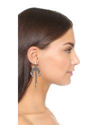 DANNIJO - Metallic Narsia Earrings - Clear/ox Silver - Lyst