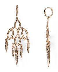 Alexis Bittar - Metallic Crystal Encrusted Dangling Spike Earrings - Lyst