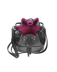 Michael Kors - Black Greenwich Saffiano-Leather Bucket Bag - Lyst