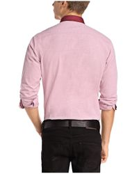 BOSS Orange - Red Slim-fit Casual Shirt 'espressoe' In Cotton for Men - Lyst