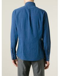 Brunello Cucinelli - Blue Denim Shirt for Men - Lyst