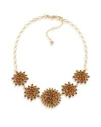 Carolee | Brown Desert Oasis Goldtone Stone Necklace | Lyst