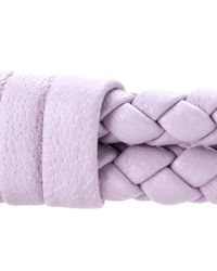 Bottega Veneta | Purple Knot Woven Leather Bracelet | Lyst