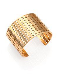 Kelly Wearstler - Metallic Idealist Perforated Cuff Bracelet - Lyst