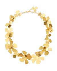 Herve Van Der Straeten | Metallic Origami Flower Necklace | Lyst
