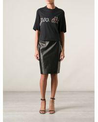 3.1 Phillip Lim - Black 'Poodle' T-Shirt - Lyst