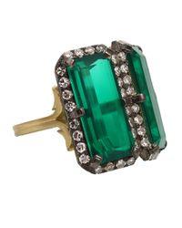 Sylva & Cie - Green Beryl Doublet Ring - Lyst