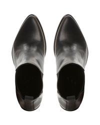 Steve Madden Black Piero Block Heeled Ankle Boots