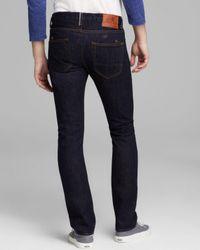 PRPS Black Jeans Japanese Selvage Rambler Slim Fit in Rinse for men