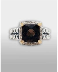 Lord & Taylor | Brown Sterling Silver And 14k Yellow Gold Smokey Quartz Ring | Lyst