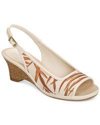 Aerosoles - Brown Dozen Roses Wedge Sandals - Lyst