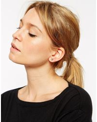 ASOS | Metallic Spike Stud Swing Earrings | Lyst