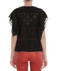 Isabel Marant - Black Allen Embroidered Silk Top - Lyst