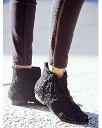 Free People - Black Decades Ankle Boot - Lyst