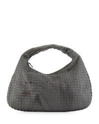Bottega Veneta - Gray Veneta Intrecciato Large Shadow Hobo Bag - Lyst