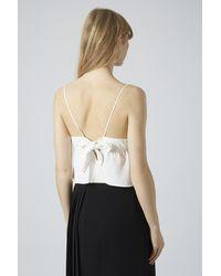 TOPSHOP White Tie-Back Cami