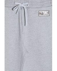 KENZO - Gray Travel Label Sweat Shorts for Men - Lyst