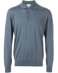 Brioni - Blue Fine Knit Polo Shirt for Men - Lyst