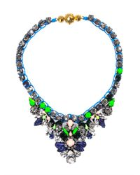 Shourouk | Blue Theresa Necklace | Lyst