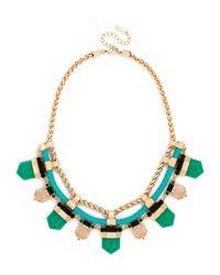 BaubleBar - Green Braided Tribal Collar - Lyst