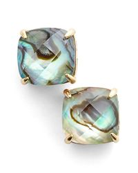 kate spade new york | White Square Stud Earrings - Abalone/ Ivory | Lyst