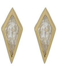 Tate | Metallic Diamond Kite Studs | Lyst