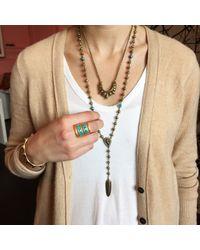 Pamela Love | Metallic Turquoise Inlay Path Ring | Lyst