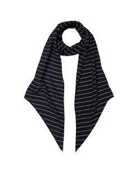 Hobbs Blue Skinny Stripe Scarf