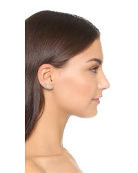 Rebecca Minkoff - Metallic Pave Wing Ear Climbers - Lyst