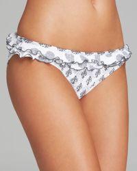 Pilyq | White Brigitte Batik Ruffle Bikini Bottom | Lyst