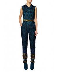 Matthew Williamson | Blue Rainbow Leopard Lace Jumpsuit | Lyst