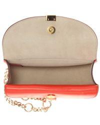 Chloé Red Georgia Nano Leather Shoulder Bag