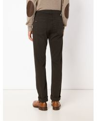 7 For All Mankind - Brown 'the Slimmy Luxe' Jeans for Men - Lyst