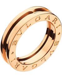 BVLGARI | Black B.Zero1 One-Band 18Ct Pink-Gold Ring - For Women | Lyst