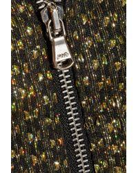 SUNO - Black Metallic Fil Coupé Mini Dress - Lyst
