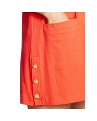 Pink Pony - Orange Side-button Cotton Cover-up - Lyst