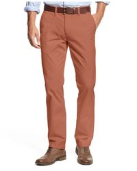 Tommy Hilfiger - Red Custom-Fit Chino Pants for Men - Lyst