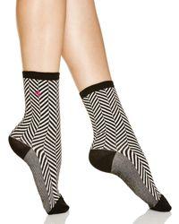 Ralph Lauren Black Chevron Herringbone Trouser Socks