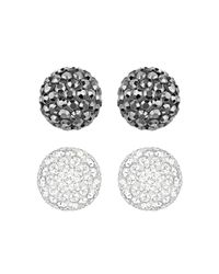 Swarovski | Metallic Blow Crystal Stud Earrings Set | Lyst
