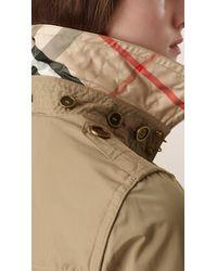 Burberry Natural Hooded Taffeta Trench Coat