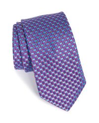 Ted Baker | Blue Geometric Woven Silk Tie for Men | Lyst