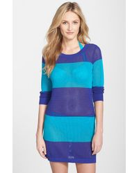 Tommy Bahama Blue Stripe Cover-up Sweater